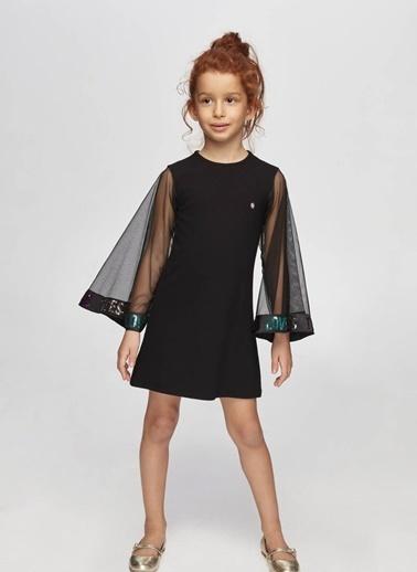 Tyess Tyess B&G Siyah Kız Çocuk Elbise Siyah